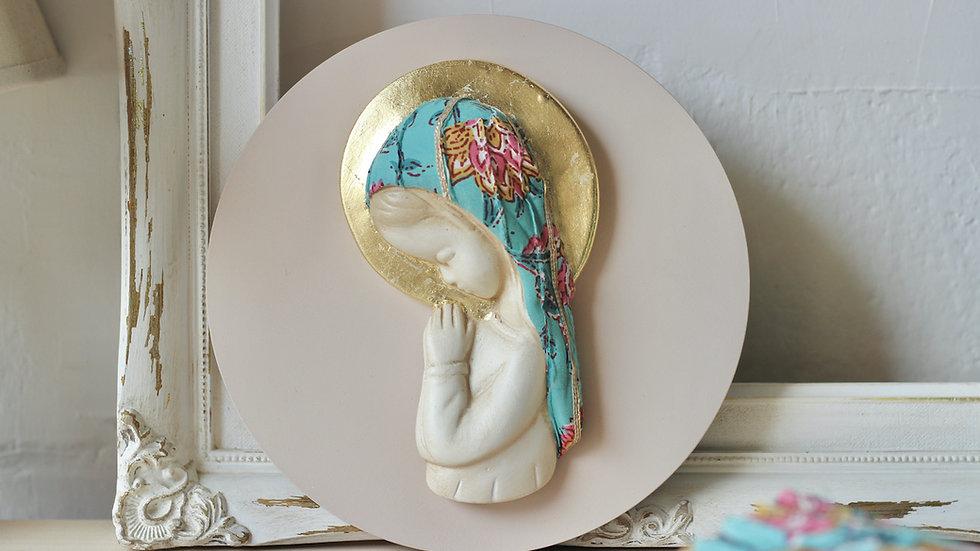 Virgen niña flor de loto