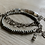 Thumbnail: Smokey Moonstone Gemstone Layered Bracelet