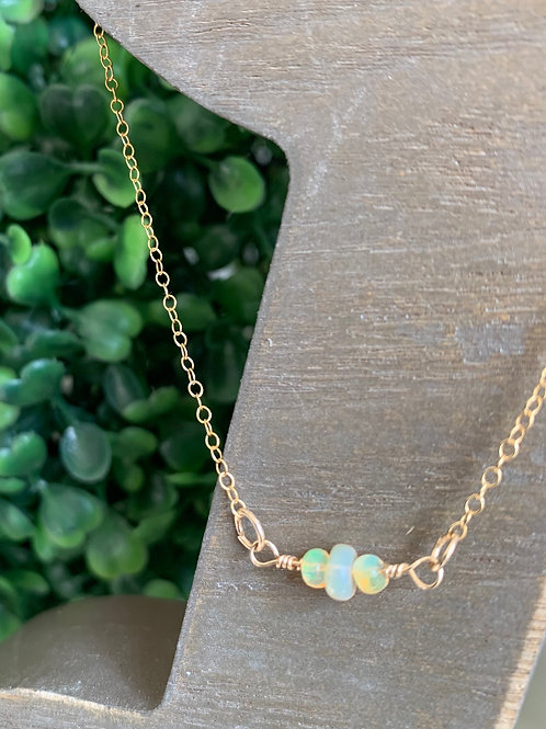 14 Karat Gold Filled Ethiopian Opal Infinity Choker