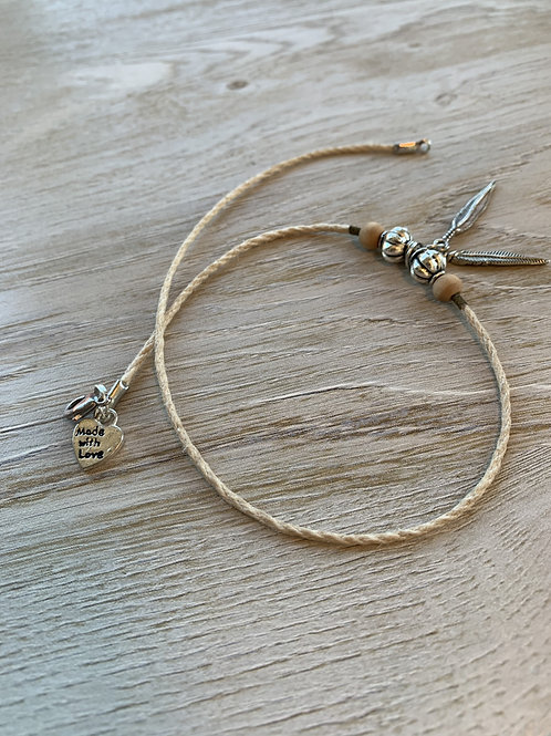 Precious Sandalwood Choker with Leaf Charms