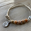 Thumbnail: Precious Sunstone White Leather Bracelet with Charm