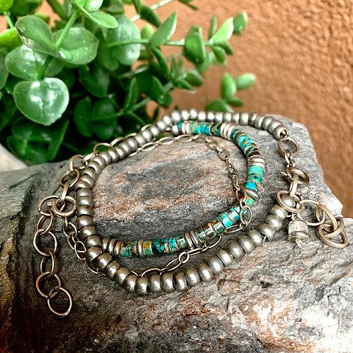 African Turquoise Gemstone Bracelet