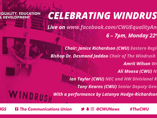 CWU Celebrating Windrush Day