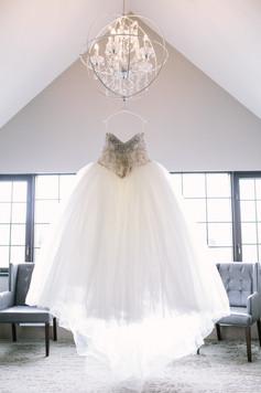 Hazelton Manor Bridal Suite - Dress Hanging