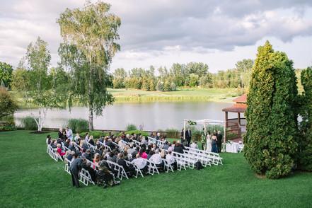 Hazelton Manor Wedding Ceremony Outside - Gazebo and lake