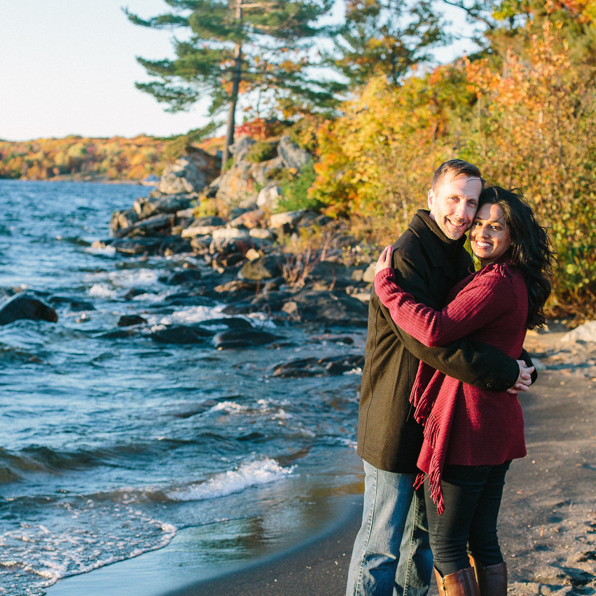 Perry Sound Engagement Photos in Fall