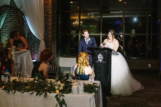 Hazelton Manor Wedding Bride and Groom Speech