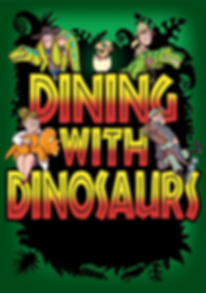 WEB Dining With Dinosaurs Poster sans ba