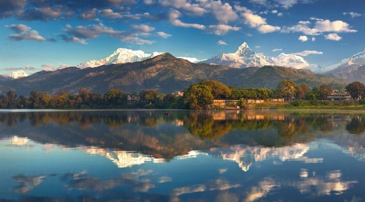 mountains lake uppermustang