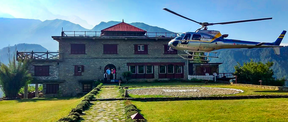 helicopter uppermustang  hotel