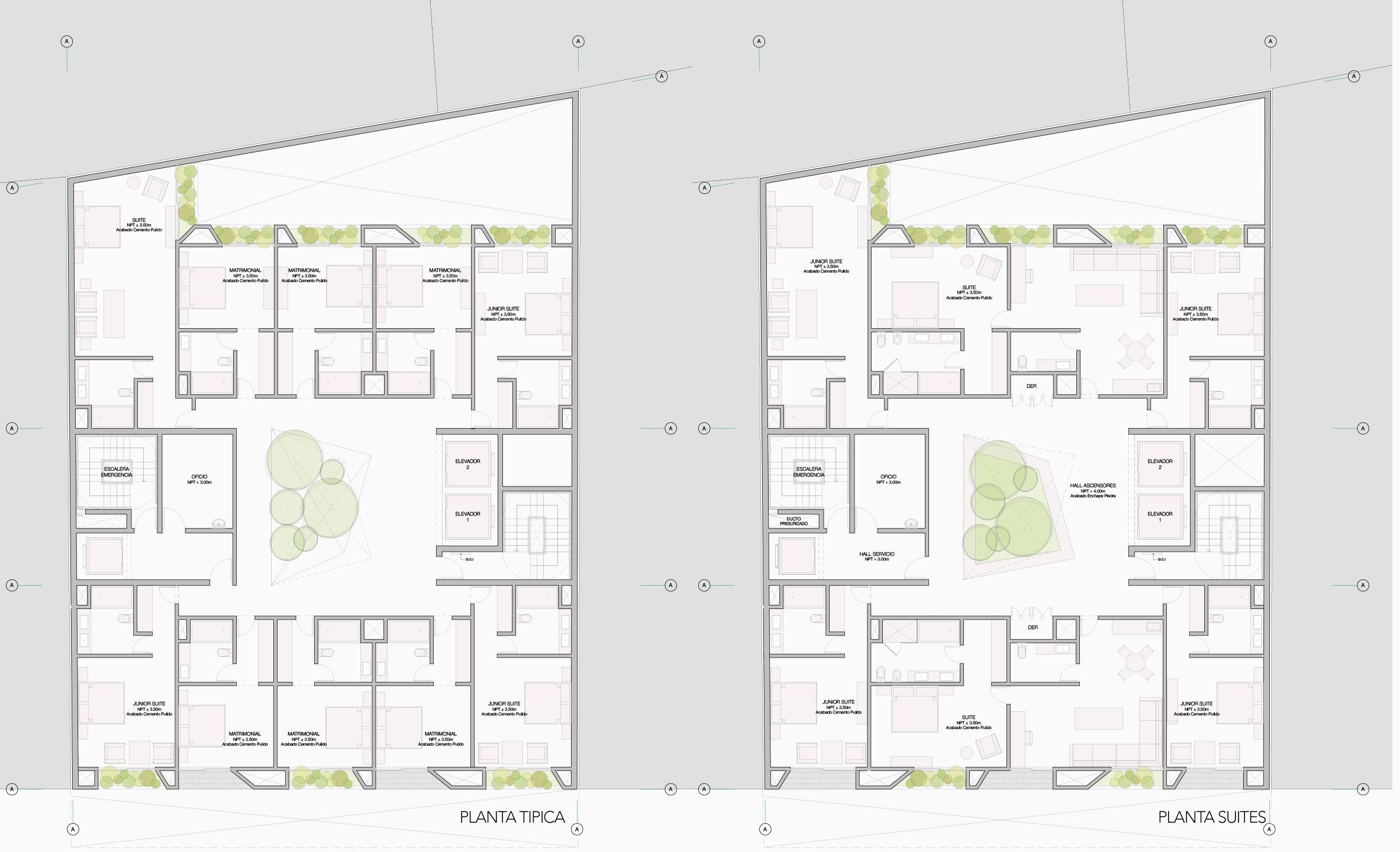 Planta Tipica + Planta Suites