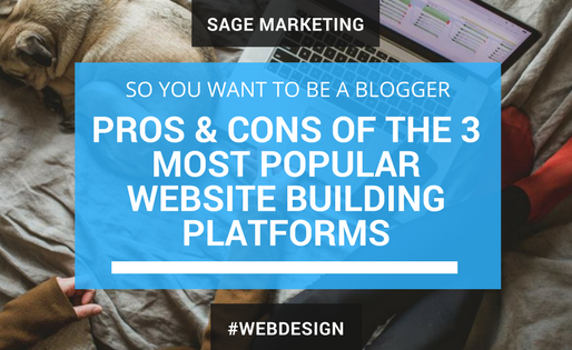 So You Want to Be a Blogger: Pros & Cons of the 3 Most Popular Website Building Platforms