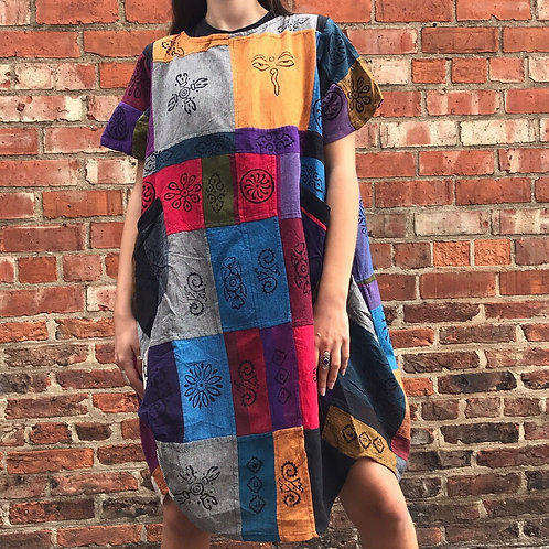 Patchwork Blockprint Dress