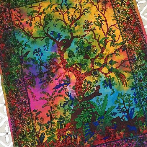 Rainbow Tree of Life Wall Hanging