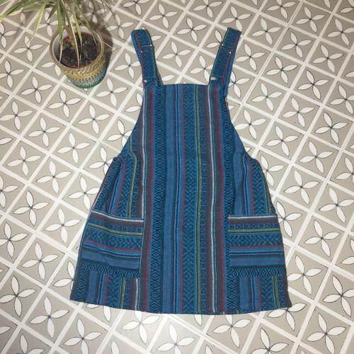 44a5c18364b Blue Stripe Dungaree Dress