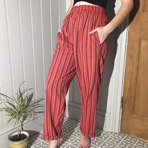 Red Striped Trousers
