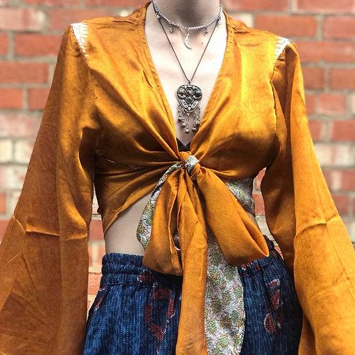 Sun Sari Wrap Top