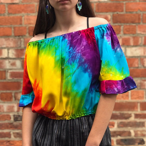Rainbow Bardot Top