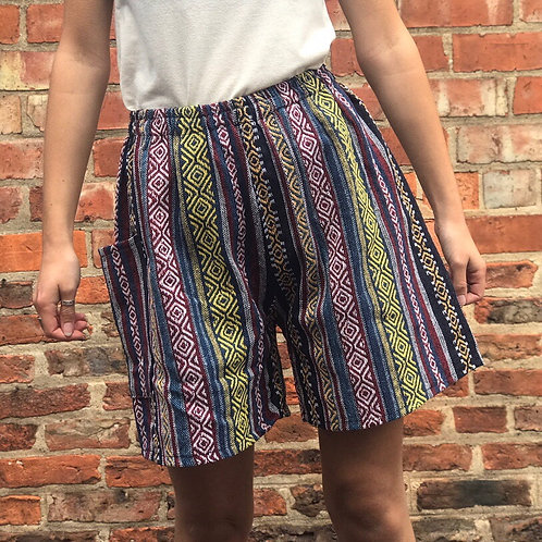 Blue & Yellow Thai Weave Shorts