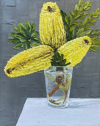 """""""Hand Picked,Yellow Banksia Posie"""""""