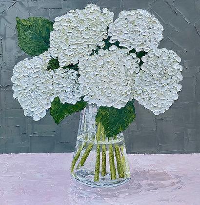 White Hydrangea Posie