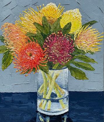 """Hand Picked, Pincushion Protea Posie"""