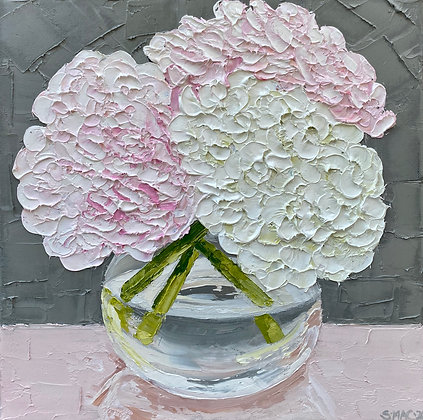 Pink and White Hydrangea Posie