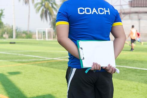 Coach is coaching Children Training In S