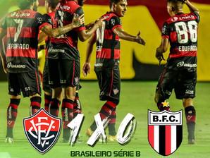 Vitória vence o Botafogo-SP e garante sua permanência na série B em 2021.
