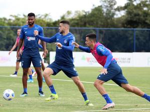 Bahia finaliza preparação em Salvador para jogo contra o Atlético - MG