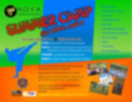 2018 NOVA Camp Flyer