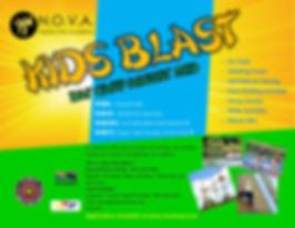2018 NOVA Kids Blast Flyer