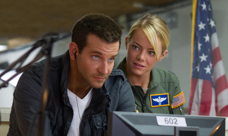 "Bradley Cooper and Emma Stone in 2015's ""Aloha""."