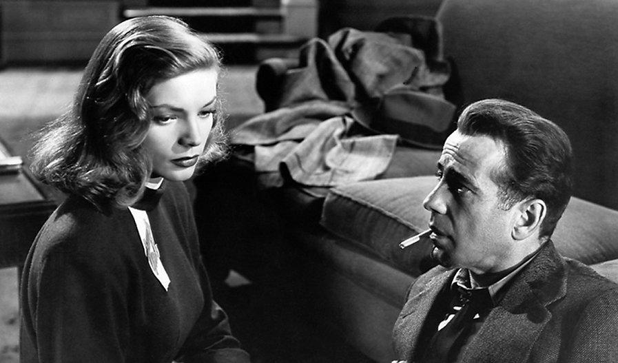 "Movie still from 1946's ""The Big Sleep""."