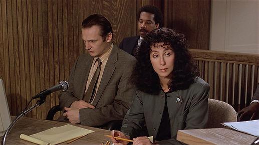"""Liam Neeson and Cher in 1987's """"Suspect."""""""