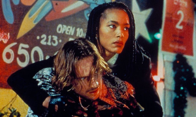 "Ralph Fiennes and Angela Bassett in 1995's ""Strange Days."""
