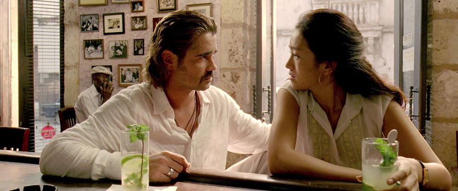 "Colin Farrell and Gong Li in 2006's ""Miami Vice."""