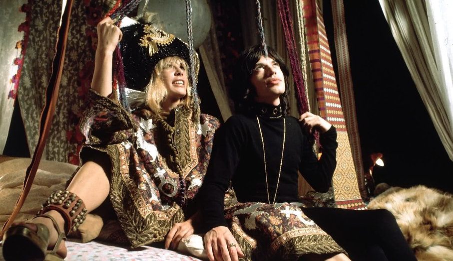 """Anita Pallenberg and Mick Jagger in 1970's """"Performance."""""""