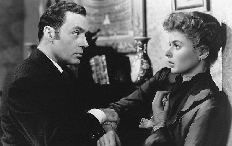 "Charles Boyer and Ingrid Bergman in 1944's ""Gaslight."""