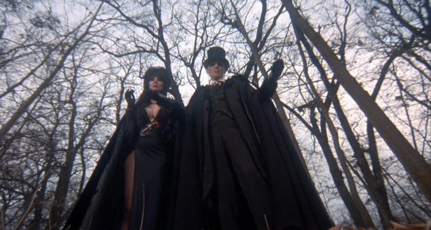 """Movie still from 2001's """"Elvira's Haunted Hills."""""""