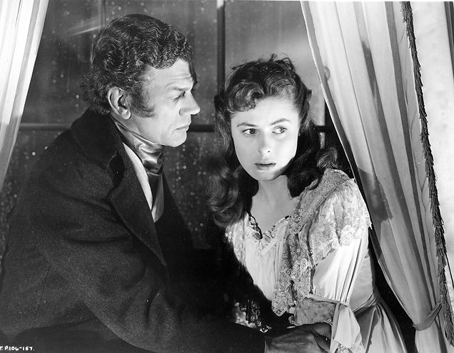 "Joseph Cotten and Ingrid Bergman in 1949's ""Under Capricorn."""
