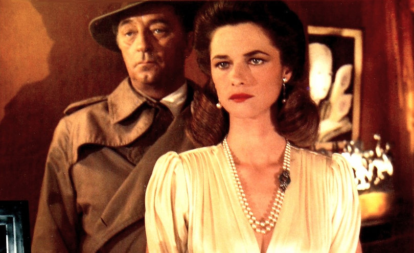 """Robert Mitchum and Charlotte Rampling in 1975's """"Farewell, My Lovely."""""""