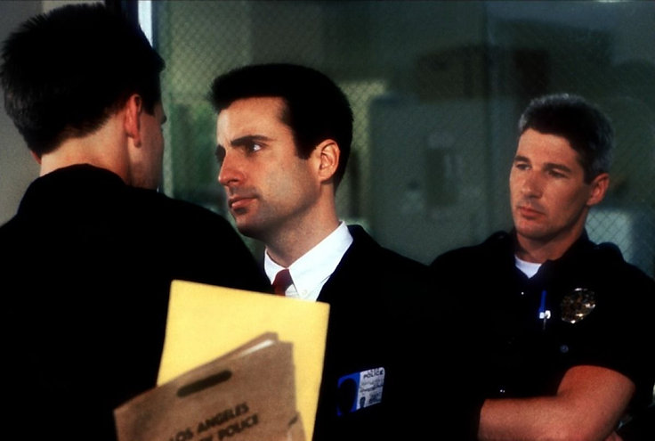 """William Baldwin, Andy Garcia, and Richard Gere in 1990's """"Internal Affairs."""""""