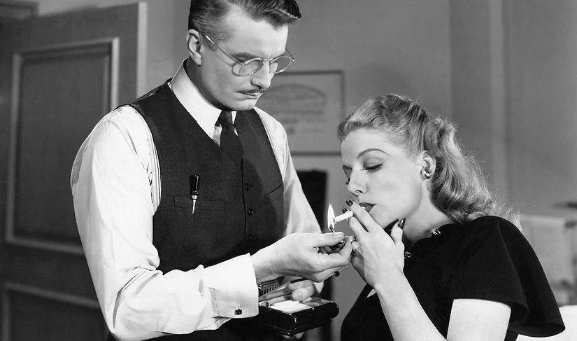 """Movie still from 1947's """"Nora Prentiss."""""""
