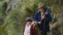"Movie still from 2016's ""Hunt for the Wilderpeople."""