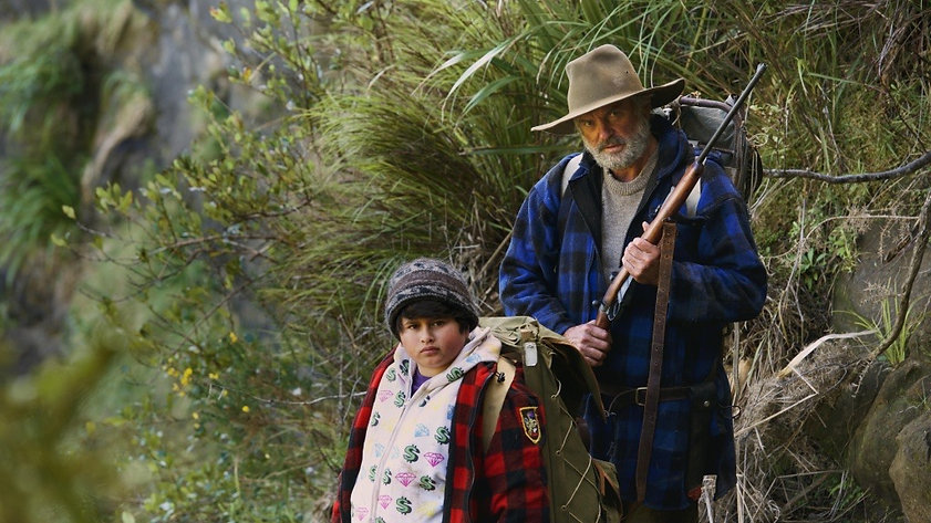 """Movie still from 2016's """"Hunt for the Wilderpeople."""""""
