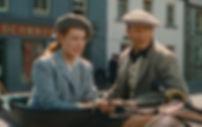 "Maureen O'Hara and John Wayne in 1952's ""The Quiet Man."""