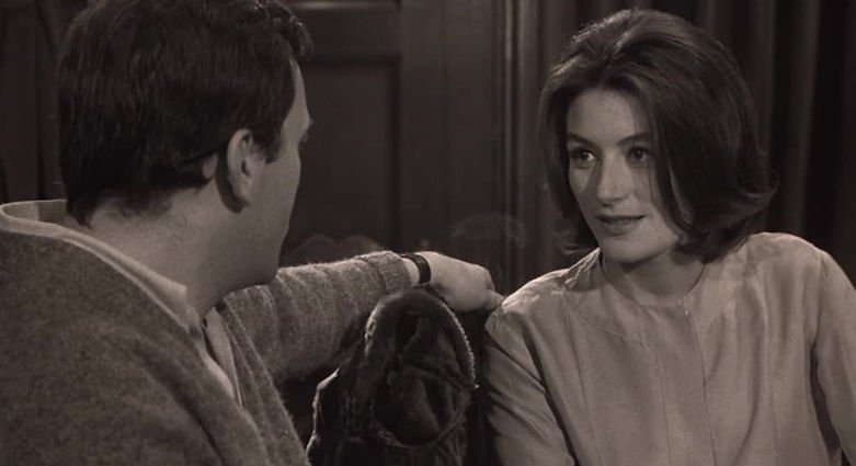 "Jean-Louis Trintignant and Anouk Aimée in 1966's ""A Man and a Woman."""