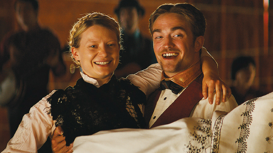 "Mia Wasikowska and Robert Pattinson in 2018's ""Damsel."""