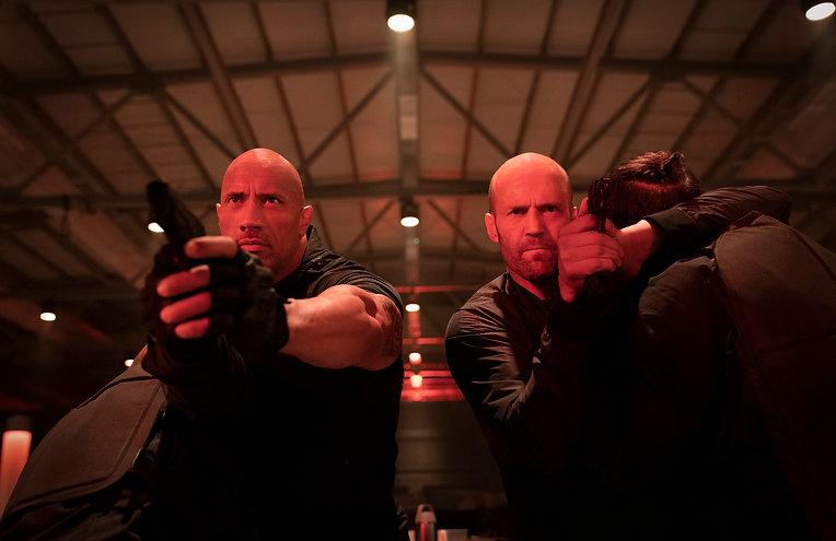 "Dwayne Johnson and Jason Statham in 2019's ""Hobbs & Shaw."""